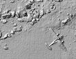 阿布基尔湾的等深线图