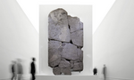Restored stele at exhibition in Turin, Italy