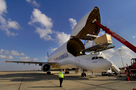 Arrival of Hapy with Airbus Beluga for exhibition tour through Europe