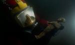 A bronze golden eyes statuette of Osiris