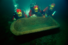 Vat underwater before lifting