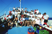 The Teams of Franck Goddio and the Supreme Council of Antiquities in Egypt in Aboukir Bay.