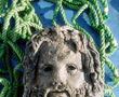 Marble head of the god Serapis, 2nd century BC, (H 59 cm, l cm) discovered on the site of the temple dedicated to this god, A creation of the Ptolemaic period, this god was associated with Isis and took over some of the functions of Osiris. The cult grew