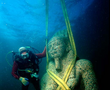 A colossal statue of red granite (5.4 m), representing the god Hapy, god of the Nile flood and symbol of abundance and fertility decorating the temple of Heracleion. Never before was such a huge statue of Hapy or any other god discovered in Egypt, which indicates Hapy's importance for the Canopic branch, the largest and most important of the Nile branches at the time.