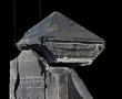The Naos of the Decades, a black granite shrine that dates to the 4th century BC. It was made in the reign of Nectanebo I (380-362 BC) and dedicated to Shu, god of the air and the winds.
