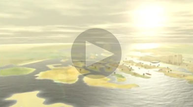 Animation of the city of Heracleion according to Franck Goddio's excavation results.