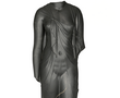 This over life-size black diorite statue of a stunning sculptural quality probably represents Arsinoë II, dressed as the goddess Isis with the knot on the right shoulder clasping the fine linen tunic, a ceremonial dress of the Ptolemaic queens.
