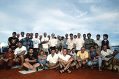 The teams of Franck Goddio and the National Museum of the Philippines during the excavation of the Royal Captain ship.